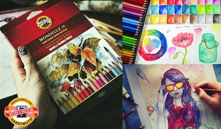 Prueba los Crayones Kohinoor Mondeluz Acuarelables!
