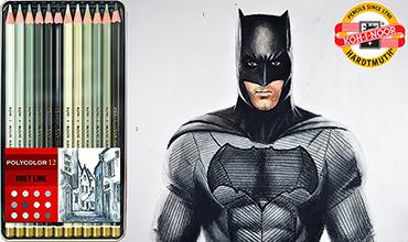 web batman grises polycolor