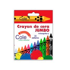 CRAYON COLE CERA JUMBO TRIANGULAR 12 COL