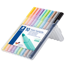 MARCADOR STAED 362 CSB10 TEXTSURFER *10COL. PASTEL
