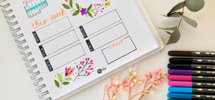 Cuaderno Journal y Brush Pens
