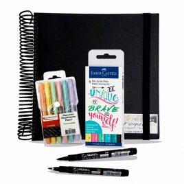 Brush pastel & Sketchbook